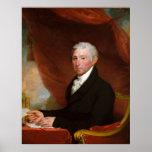 US President James Monroe by Gilbert Stuart Print