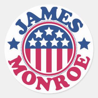 US President James Monroe Classic Round Sticker