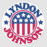 US President Lyndon Johnson Classic Round Sticker