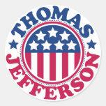US President Thomas Jefferson Classic Round Sticker
