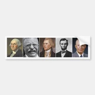 US Presidents Car Bumper Sticker