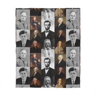 US Presidents Plus Hamilton and Franklin History Fleece Blanket