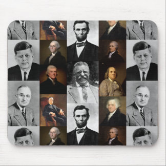 US Presidents Plus Hamilton and Franklin History Mouse Pad