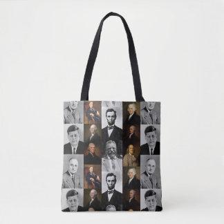 US Presidents Plus Hamilton and Franklin History Tote Bag