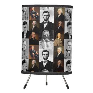 US Presidents Plus Hamilton and Franklin History Tripod Lamp