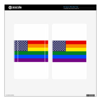 US Pride Flag Kindle Fire Decal