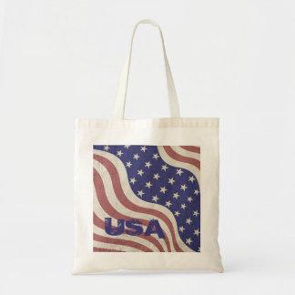 US pride patriotic flag USA monogram Tote Bag