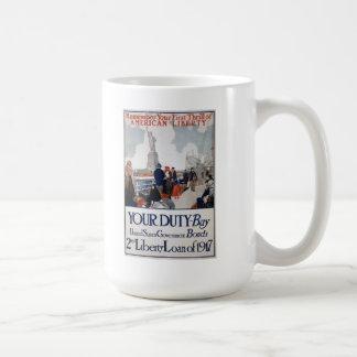 US Propaganda Poster Mug
