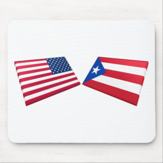 US & Puerto Rico Flags Mouse Pad