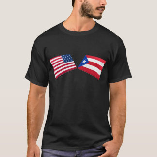 US & Puerto Rico Flags T-Shirt