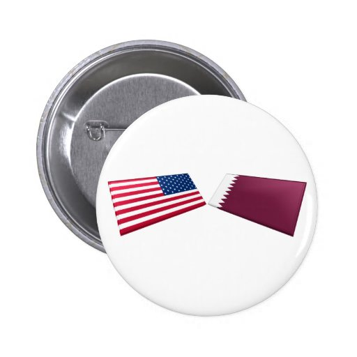 US & Qatar Flags Buttons