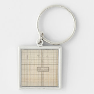 US receipts and expenditures Silver-Colored Square Keychain