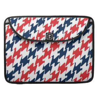 US Red White and Blue Sports Colors Sleeve For MacBook Pro