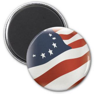 US Revolution Flag Magnet