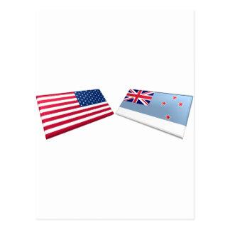 US & Ross Dependency Flags Postcard