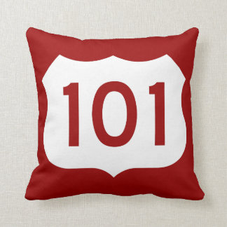 US Route 101 Sign Pillow