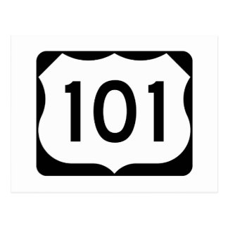US Route 101 Sign Postcard