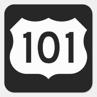 US Route 101 Sign Square Sticker