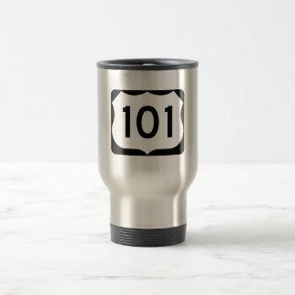 US Route 101 Sign Travel Mug