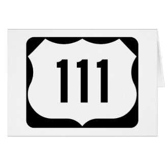 US Route 111 Sign Card