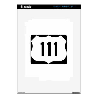 US Route 111 Sign iPad 3 Skins