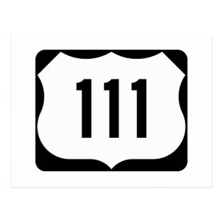US Route 111 Sign Postcard
