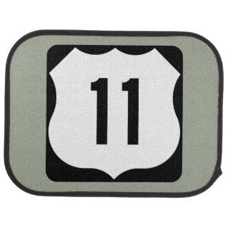US Route 11 Sign Car Mat