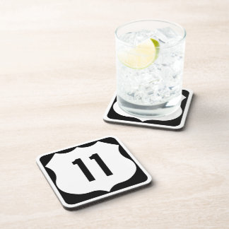 US Route 11 Sign Drink Coaster