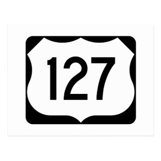US Route 127 Sign Postcard