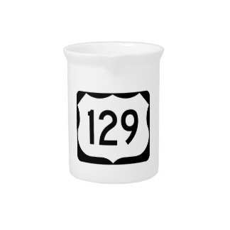 US Route 129 Sign Drink Pitcher