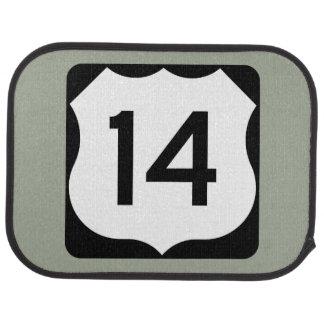 US Route 14 Sign Car Floor Mat