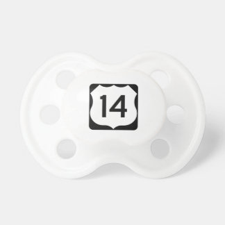 US Route 14 Sign Pacifier