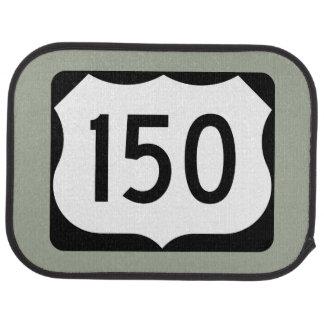 US Route 150 Sign Car Mat