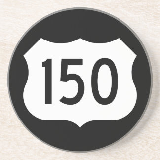US Route 150 Sign Drink Coaster