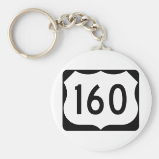 US Route 160 Sign Keychain