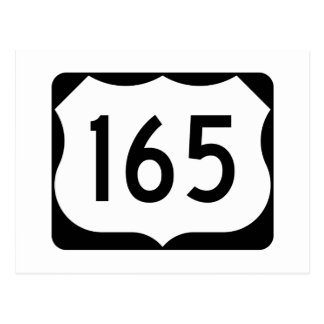 US Route 165 Sign Postcard