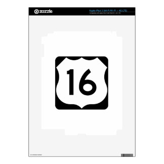 US Route 16 Sign Skins For iPad 3