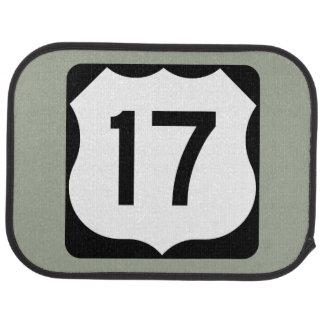US Route 17 Sign Car Floor Mat