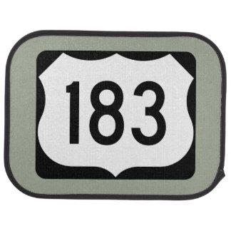 US Route 183 Sign Car Floor Mat