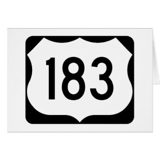 US Route 183 Sign Card