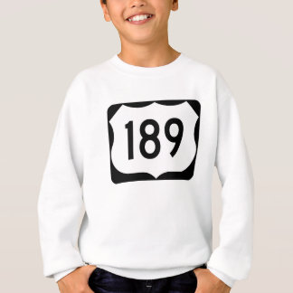 US Route 189 Sign Sweatshirt