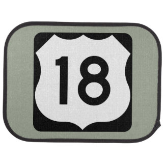 US Route 18 Sign Car Mat