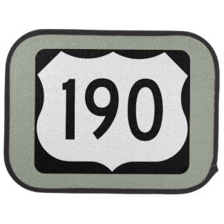US Route 190 Sign Car Mat