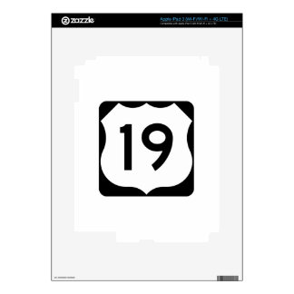 US Route 19 Sign Decals For iPad 3
