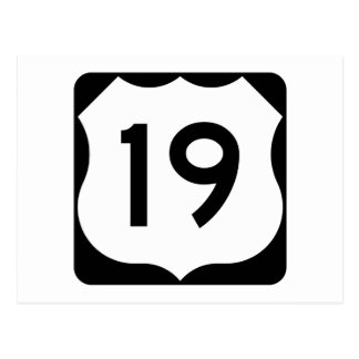 US Route 19 Sign Postcard