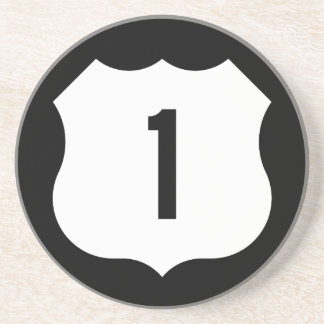 US Route 1 Sign Drink Coasters