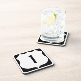US Route 1 Sign Beverage Coaster