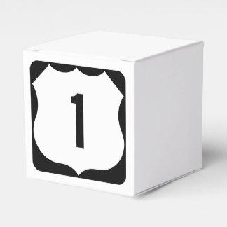 US Route 1 Sign Favor Boxes