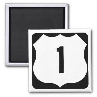 US Route 1 Sign 2 Inch Square Magnet