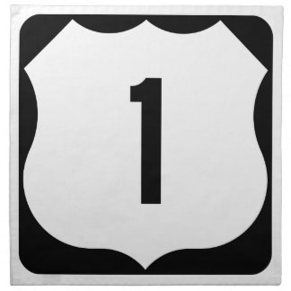 US Route 1 Sign Napkin
